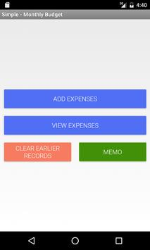simple monthly budget poster simple monthly budget apk screenshot