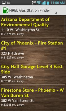 NREL Gas Station Finder apk screenshot