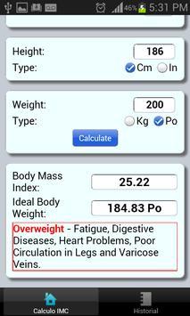 SMART BMI apk screenshot