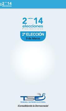 TSE 2ª VUELTA EL SALVADOR 2014 poster