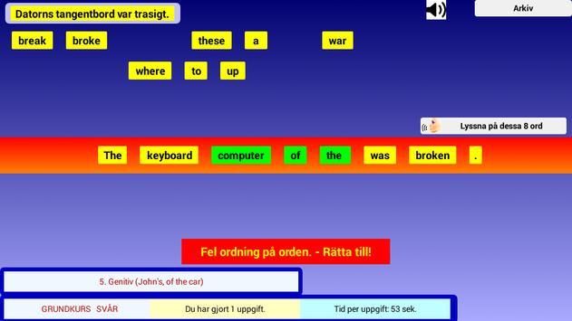 Engelsk Grammatik Övningar screenshot 3