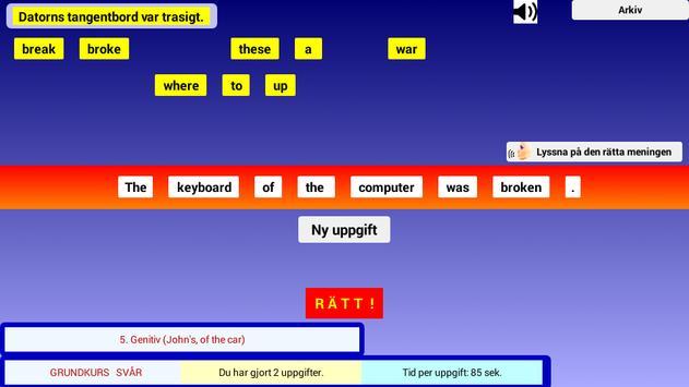 Engelsk Grammatik Övningar screenshot 4