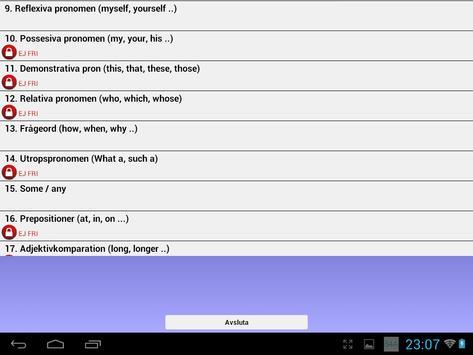 Engelsk Grammatik Övningar screenshot 9