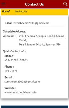 SVM School Cheema apk screenshot