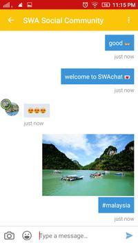 SWAchat Network apk screenshot