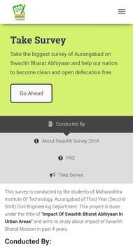 Swachh Survey 2018 - Aurangabad City poster