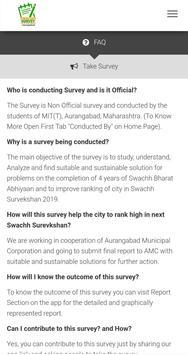Swachh Survey 2018 - Aurangabad City screenshot 1