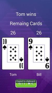2 Player Card Game apk screenshot