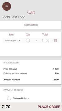 Food Ordering System apk screenshot