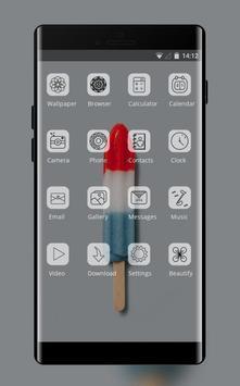 sweet popsicle theme wallpaper screenshot 1