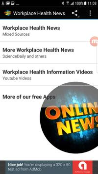 Workplace Health News poster