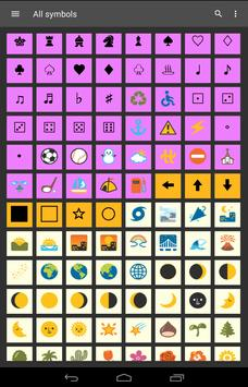Symbols Shortcuts 2 with custom Keyboard screenshot 13