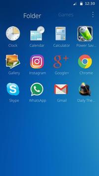 Classic Blue Theme apk screenshot
