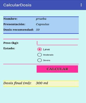 Calculador de dosis pediatrica screenshot 3