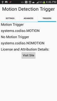 Camera Motion Trigger apk screenshot