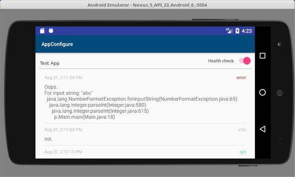 AppConfigure screenshot 1