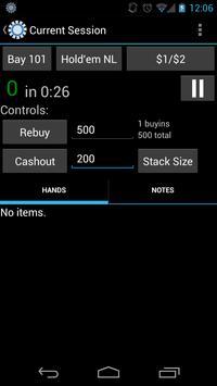 Poker Session Logger apk screenshot