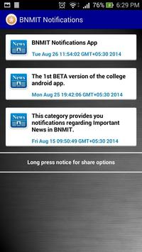 BNMIT Notifications [BETA] apk screenshot