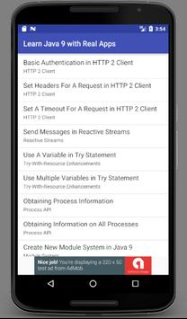 Learn Java 9 With Real Apps screenshot 2