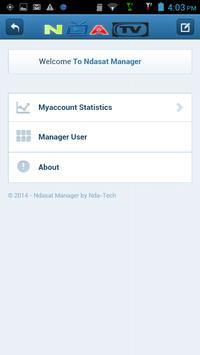 Ndasat Manager screenshot 1