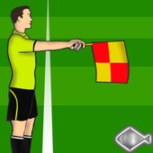 Offside football rules icon