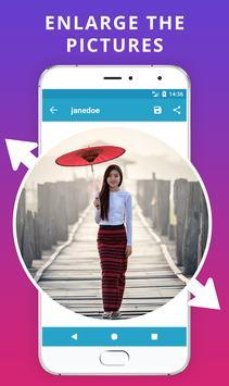 Enlarge - Big Profile Picture Saver apk screenshot