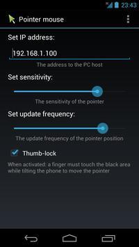 Pointer mouse BETA apk screenshot