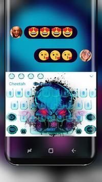 Poison Gas Skull Keyboard poster