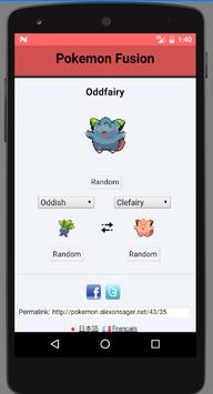 Fusion Generator for Pokemon and pokedex imagem de tela 1