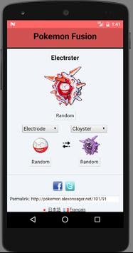 Fusion Generator for Pokemon and pokedex imagem de tela 2