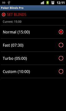 Poker Blinds Dealer Pro Free apk screenshot