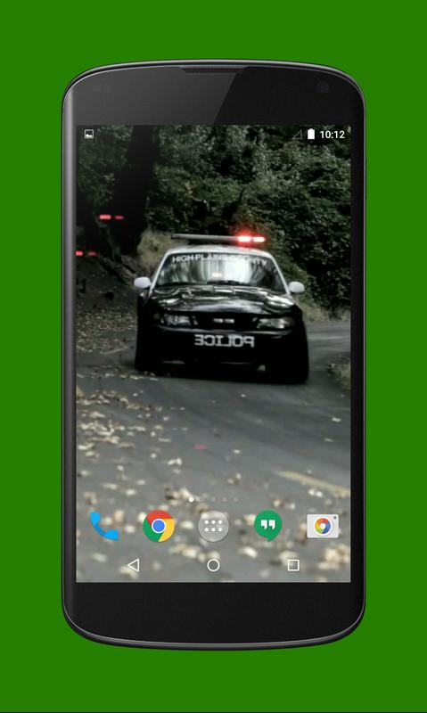 ... Police Car Live Wallpaper تصوير الشاشة 3 ...
