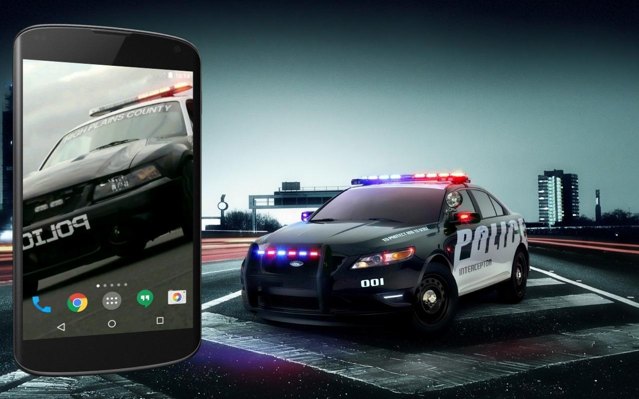 Police car live wallpaper apk download free personalization app for android - Car live wallpaper ...