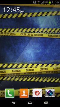 Police Lines Caution HD LiveWP apk screenshot