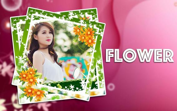 Flower Photo Frame Collage poster