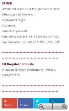 Pondicherry Hospitals Lists screenshot 12
