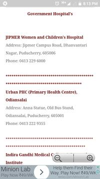 Pondicherry Hospitals Lists screenshot 2