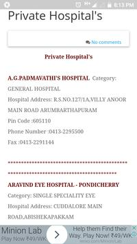 Pondicherry Hospitals Lists screenshot 3