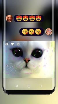 Poor eyes cat Keyboard poster