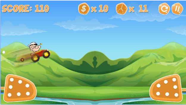 Popaye Racing Game poster