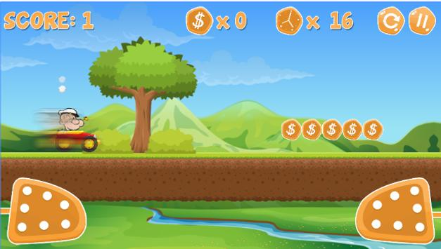 Popaye Racing Game apk screenshot