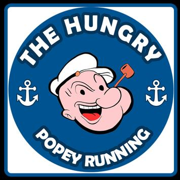 The hungry popey runner poster