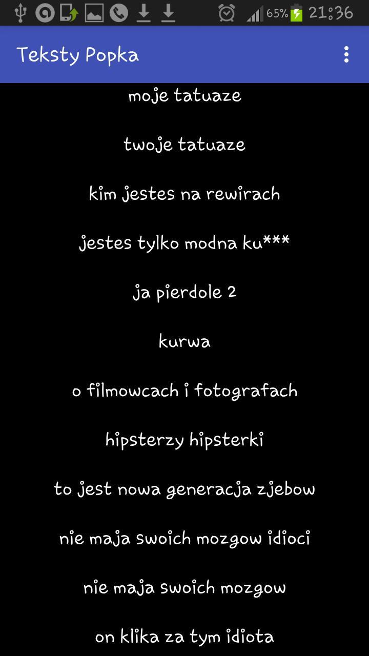 Teksty Popka For Android Apk Download