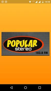 Popular stereo 103.8 fm poster