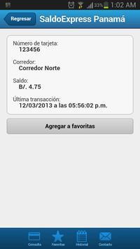 SaldoExpress Panamá apk screenshot