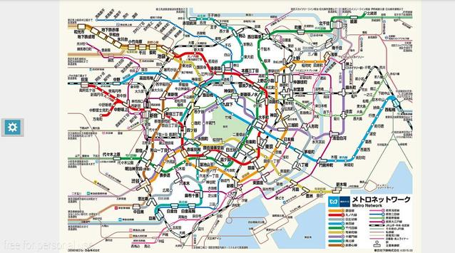 Tokyo subway map support zoom apk screenshot