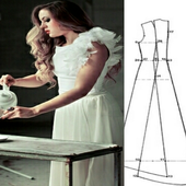 Make with dress patterns icon
