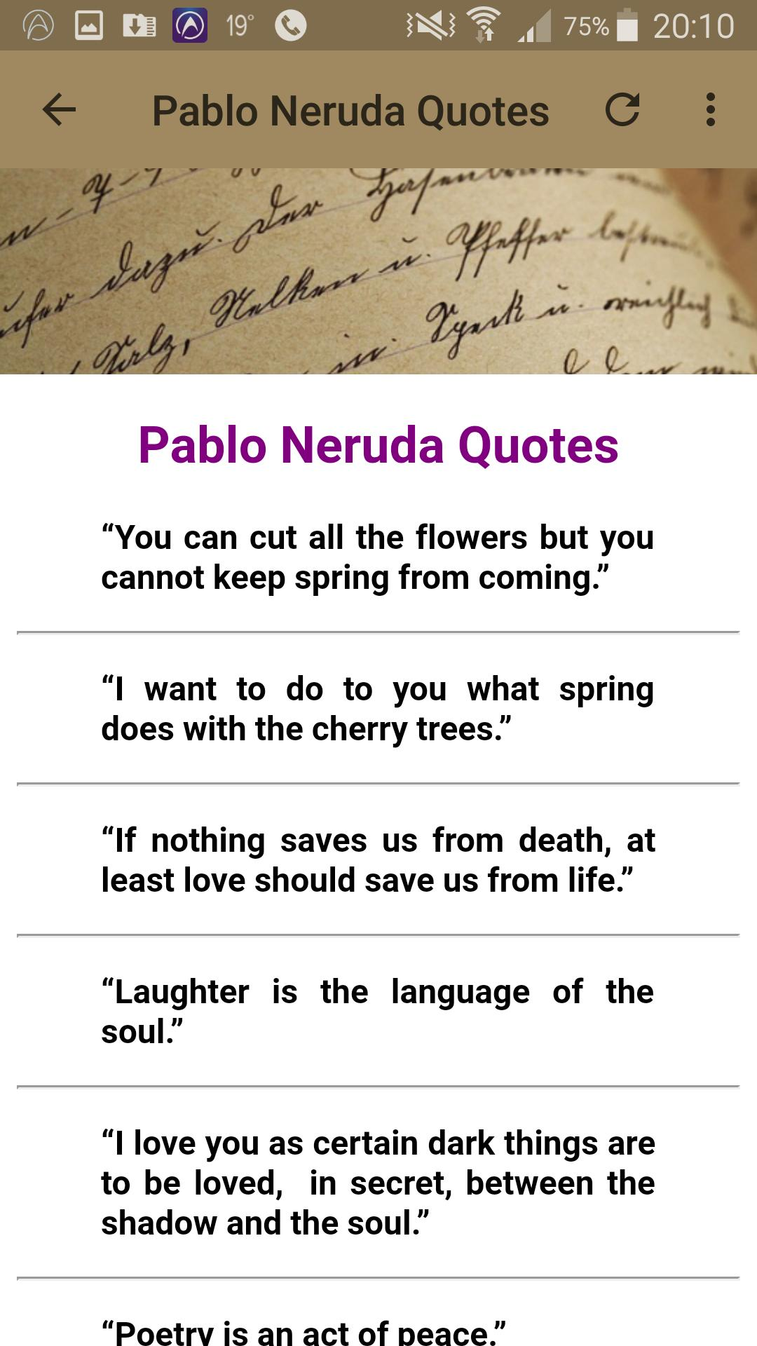 Pablo Neruda Quotes For Android Apk Download