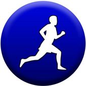 Pedometer count steps icon