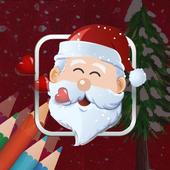 Christmas Coloring box - Santa gives gifts to you icon